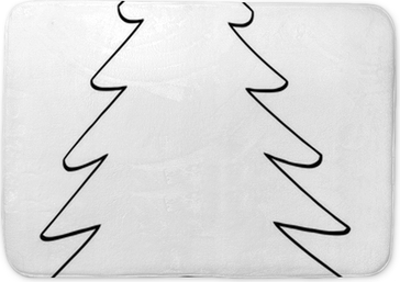 Outline Cartoon Christmas Tree Pillow Cover Pixers We Live To