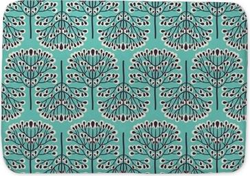 Seamless forest pattern Bath Mat