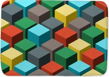 Seamless geometric abstract pattern. Vector illustration. Bath Mat