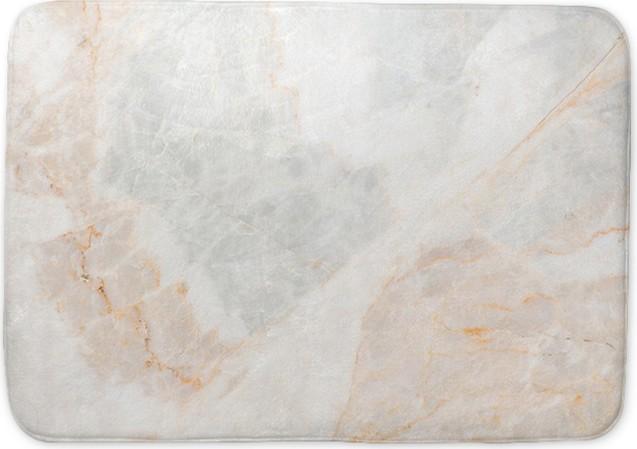 Seamless Soft Beige Marble Texture Bath Mat