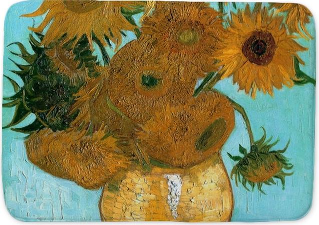 77c292dcd44ad3 Vincent van Gogh - Sunflowers Bath Mat • Pixers® • We live to change