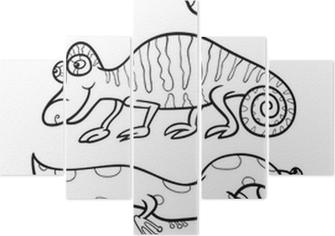 Karikatür Hayvanlar Boyama Kitabı Için Belirlenen Poster Pixers