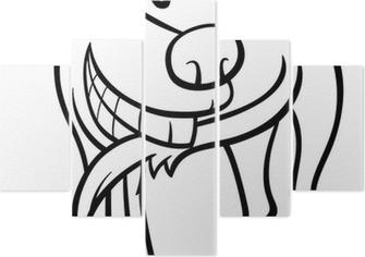 Kanarya Kuş Karikatür Boyama Iki Parçalı Pixers Haydi Dünyanızı