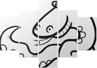 Yılan Karikatür Boyama Tuval Baskı Pixers Haydi Dünyanızı