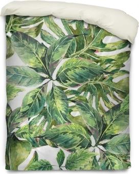Bettbezug Sommer exotischen Aquarell nahtlose Muster