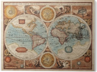 Bild auf Acrylglas Alte Karte (1626)
