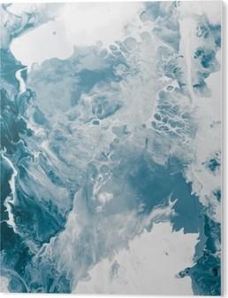 Bild auf Acrylglas Blau Marmor Textur