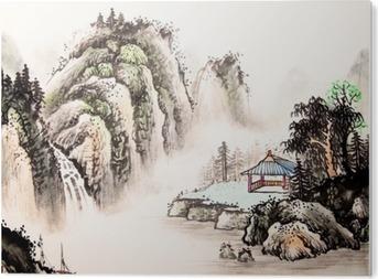 Bild auf Acrylglas Chinesische Landschaft Aquarell painting__