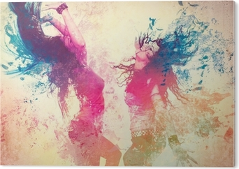 Bild auf Acrylglas Disco disco 09 / Bewegen splash