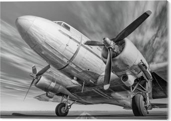 Bild auf Acrylglas Historisches Flugzeug auf einer Rollbahn