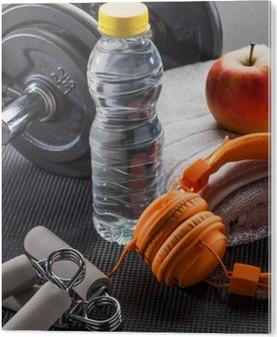 Bild auf Acrylglas Muskel und Gewichte Übung, Sport-Lifestyle-und Trainingskonzept