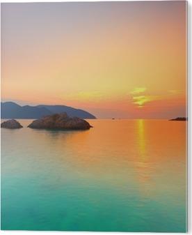 Bild auf Acrylglas Sonnenaufgang