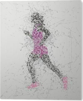 Bild auf Acrylglas Sportler Design