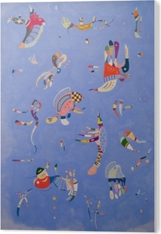 Bild auf Acrylglas Wassily Kandinsky - Himmelblau