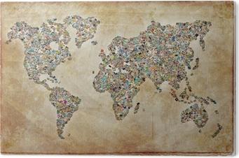 Bild auf Acrylglas Weltkarte, vintage Textur
