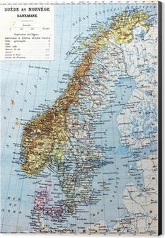 Aufkleber Die Karte Von Schweden Norwegen Und Danemark Pixers