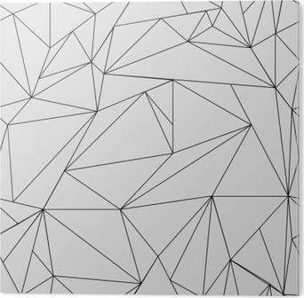 Bild auf Alu-Dibond Geometrische einfache Schwarz-Weiß minimalistische Muster, Dreiecke oder Buntglasfenster. Kann als Hintergrund, Hintergrund oder Textur verwendet werden.