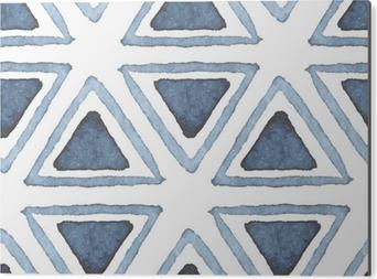 Bild auf Alu-Dibond Hand gezeichnet Aquarell nahtlose Muster