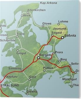 Rügen Karte.Karte Von Rügen