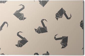 Nahtlose Muster Japanisches Papier Origami Kraniche Kann Für Die Webseite Hintergründe Oberflächenstrukturen Hintergrund Auf Visitenkarten Oder