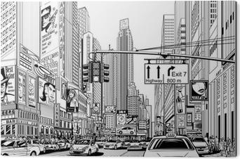 Bild auf Alu-Dibond Straße in New York City