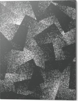 Bild auf Alu-Dibond Vektor abstrakt getupft Weird Hipster nahtlose Muster. handgemachter tileable geometrischer punktierter grunge weißer und schwarzer fester einfacher Hintergrund. bizarre Kunstabbildung