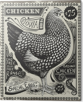 Bild auf Alu-Dibond Vintage Poultry and Eggs Advertising Page