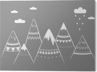 Bild auf PVC Bergkinder, Hand gezeichnete Vektorillustration