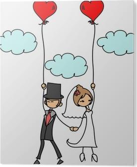 Fototapete Cartoon Hochzeit Bild Pixers Wir Leben Um Zu Verandern