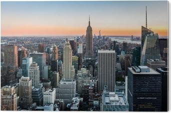 Lieblich Quadro Em Tela New York Skyline At Sunset U2022 Pixers®   Vivemos Para Mudar
