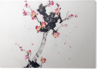 Bild auf PVC Filiale der Kirschblüten