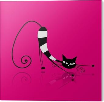 Bild auf PVC Graceful gestreifte Katze für Ihr Design