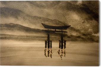Bild auf PVC Japanische Tor in Wasser