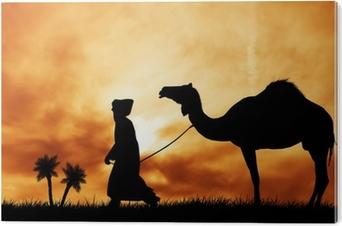 Bild auf PVC Kamel in der Wüste