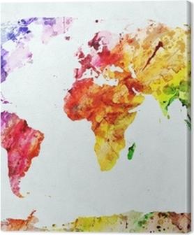 Akvarel verdenskort Billeder premium