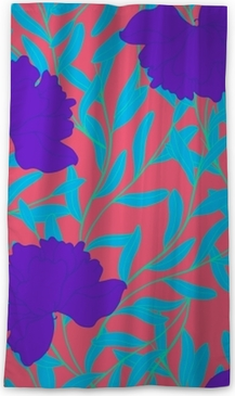 Abstract elegance pattern with floral background. Blackout Window Curtain