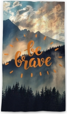 Be brave Blackout Window Curtain