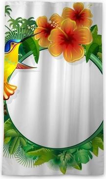 Colibri Hibiscus colibri biglietto esotico-hummingbord hibiscus jungle-vector pillow