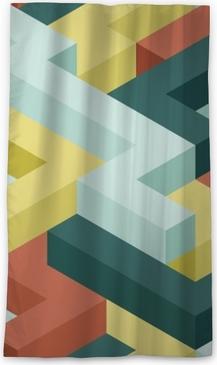 Color shape's seamless pattern Blackout Window Curtain