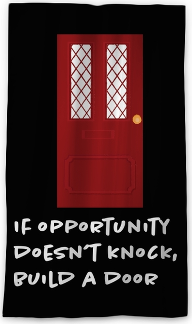 If opportunity doesn't knock, build a door. Blackout Window Curtain - Motivations