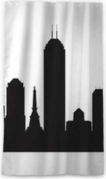 indianapolis indiana skyline detailed vector silhouette wall mural