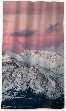 Mountain panorama in the Italy during sunset. Beautiful natural landscape in the Italy mountain Blackout Window Curtain