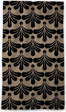 Seamless black lace background. Blackout Window Curtain