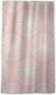 seamless flower pattern Blackout Window Curtain