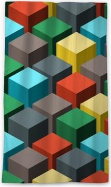 Seamless geometric abstract pattern. Vector illustration. Blackout Window Curtain