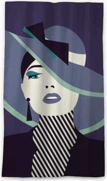 5138a7119 stylized sexy woman with hut Wall Mural • Pixers® - We live to change