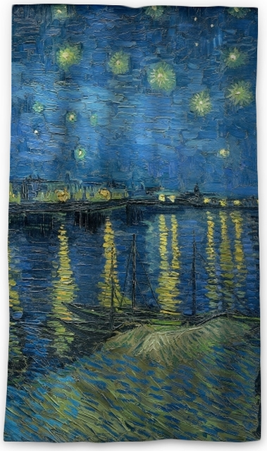19c2928123d14a Vincent van Gogh - Starry Night Over the Rhone Blackout Window Curtain