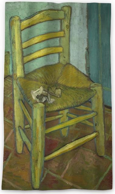 5e18a29b21e852 Vincent van Gogh - Van Gogh s Chair Blackout Window Curtain • Pixers ...