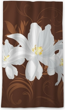 White flowers on the brown ornamental background poster pixers white flowers on the brown ornamental background poster pixers we live to change mightylinksfo