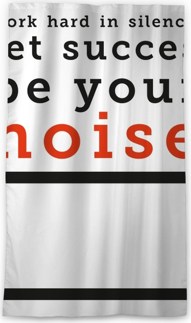 Work hard in silence, let your success be your noise Blackout Window Curtain - Motivations